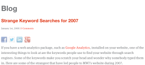 strange keyword searches 2007