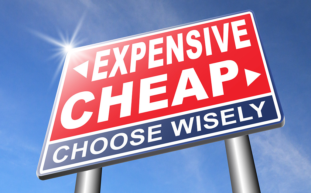 expensive or cheap compare prices best value low cost or price f