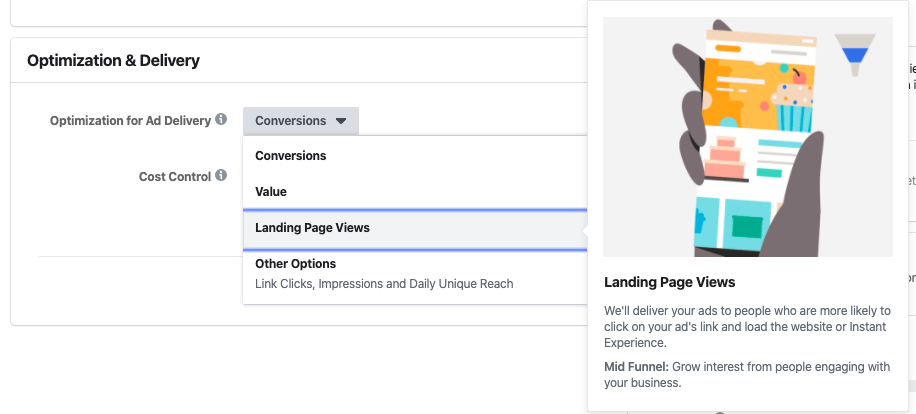 FB Ads: Landing Page Views Ad Optimization